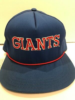 Vintage Pro Line AJD New York Giants NFL Adjustable Snapback Hat Cap NWT  Rope 5c0e9e8b9