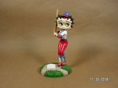 """Betty Boop  """"Batter Up""""  Baseball Figurine by Danbury Mint great condition L00K!"""