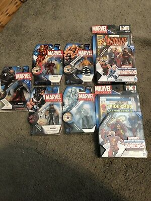 Marvel Universe 3.75 Lot Blade Iron Man Warpath Quicksilver Wonder Man Spiderman
