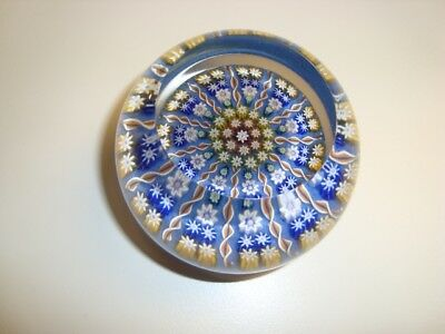 Perthshire Millefiori Art Glass Paperweight 2.25""