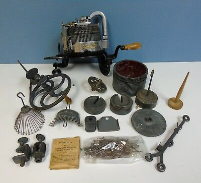 Antique Cast Iron GearHart Sock Knitting Machine Lot