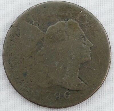 1796 1C S-91 R-3 Large Cent Flowing Hair Nice Coin For Your Collection
