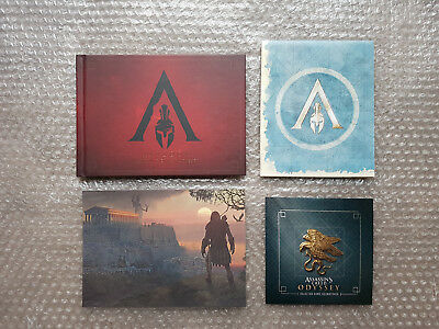 ARTBOOK SOUNDTRACK LITHOGRAPH MAP Assassin's Creed Odyssey Pantheon Edition NEW
