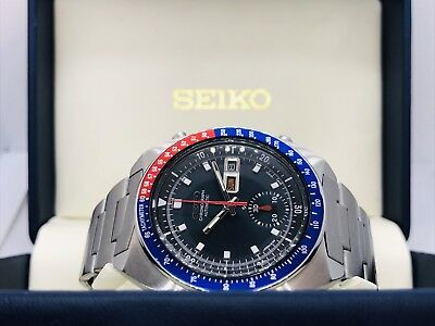 Seiko Pogue Pepsi 6139-6002 Excellent Vintage Chronograph(Black dial)