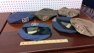 Lot of 6 vintage Delivery Driver hat covers. NY. WARD'S TIP-TOP BREAD...