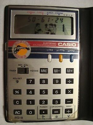 CASIO BG-8 rare Electronic Calculator Boxing Game Clock Japan vintage 1981 works