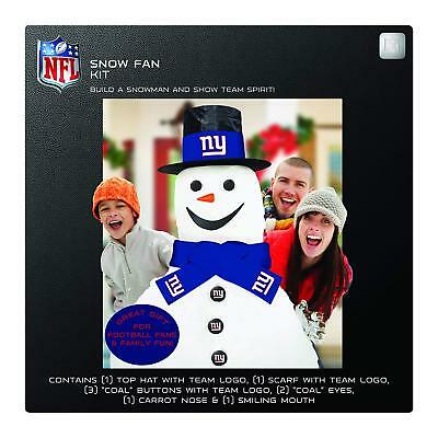 dd24dcc38b5 NFL Football NY NEW New York Giants Snowman Snow Fan Decorating Kit  Licensed New