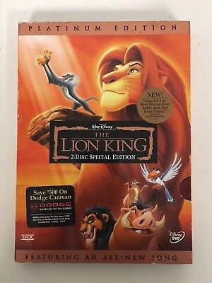 The Lion King (DVD, 2003, 2-Disc Platinum Edition) BRAND NEW Factory Sealed
