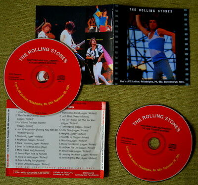 The Rolling Stones - PHILADELPHIA 1981 LIVE 2CD - Limited Edition