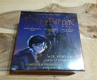 ✨ Harry Potter 25 CD Audio collection Books 1-3 - Brand new & sealed.  Rrp £95 ✨