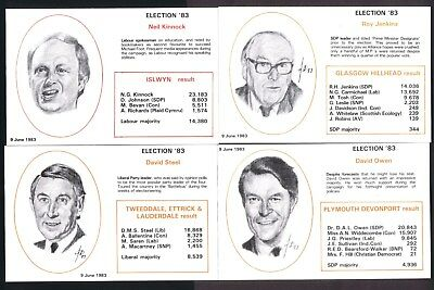 1983 Electon '83 State Of The Parties limited edition of 1,500 No.130 set of 12.
