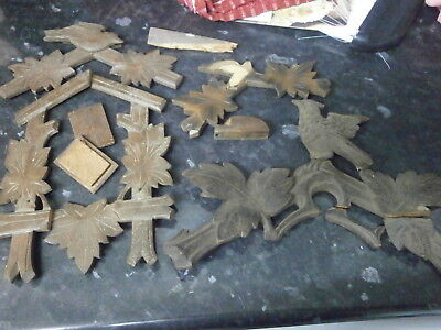 Cuckoo Clock CASE FITTINGS Quantity wall parts Black Forest German movement 891