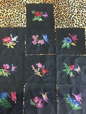 Embroidered Quilt Blocks, Quilting, Cotton