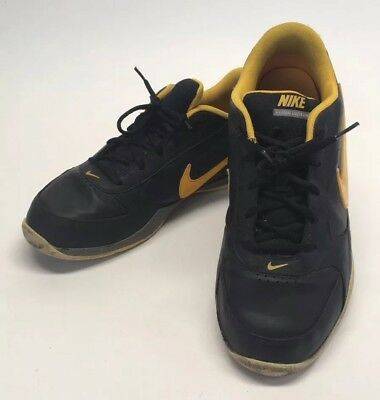 buy popular f3755 a00b1 Nike Mens Air Court Leader Low Basketball Shoes Black Yellow 429717-004 Sz  11.5