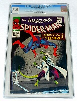 AMAZING SPIDER-MAN 44-- CGC 8.5 OW to White Pages