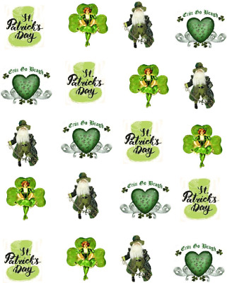 St Patrick's Day Vintage ( St.Patty's Day)  Waterslide Nail Decals/ Nail Art