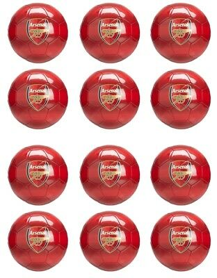 Arsenal Soccer Ball Edible Icing cupcake toppers 12x2 RED Set 1