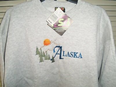 Embroidered ALASKA Sweatshirt Mens Size Large NEW with Tags Pull Over