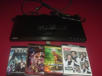 Samsung UBD-M7500 4K Ultra HD Blu-ray DVD Player Avengers X-Men Step Brothers