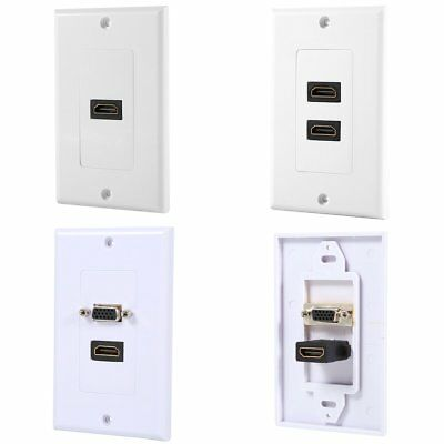 HDMI VGA Video Socket Wall Plate Cover Outlet Extender Adapter Jack HDTV 1080P