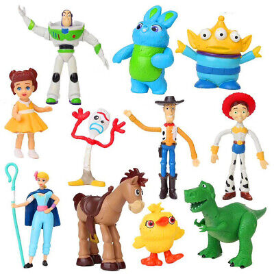 11Pcs Toy Story 4 Woody Jessie Buzz Rex Alien Forky Action Figures Kid Model Toy