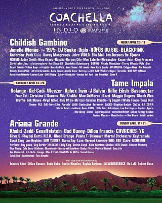 (2) Coachella 2019 Weekend 1 Tickets - GA - 3 Day Pass with 2 Shuttle Passes