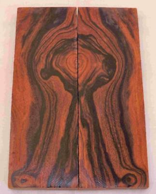 Desert Ironwood bookmatched figured knife scales turning wood turning blank #636