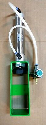 "Green Pneumatic Can Crusher 12 &16 Oz 2"" Bore Air Cylinder Recycling Man Cave"