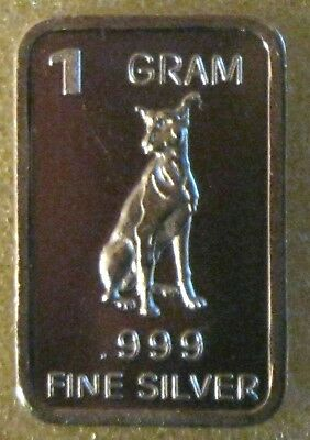 1 Gram .999 Pure Fine Solid Silver Bullion ~ Mini Art-bar ~ PANDA  ~