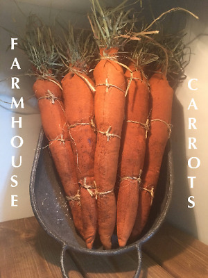 Primitive Farmhouse Carrots for Spring and Easter