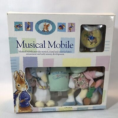 Boxed Pete Rabbit Beatrix Potter Musical Mobile 2001 Luv N Care