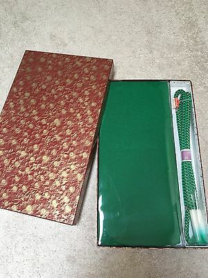 Brand New Japanese Silk Obiage Obijime set for Kimono Formal Maccha Green box