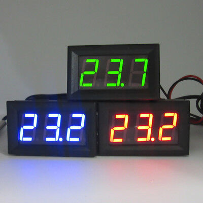 DC 12V LED Digital Thermometer With Sensor Probe -50~110C Temperature Detector