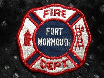 713 NEW JERSEY -  Fort Monmouth Fire Department Patch Older? Obsolete?