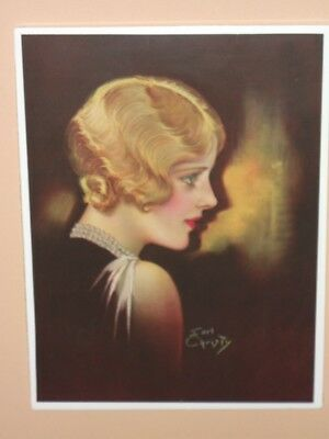 1920's ART DECO FLAPPER  by EARL CHRISTY ~ VERY BEAUTIFUL BLONDE IN PROFILE