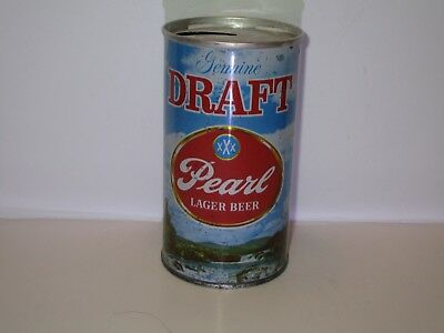 Pearl Draft Pull Top Beer Can