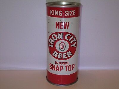 Iron City 16OZ Zip Pull Top Beer Can ( RARE )