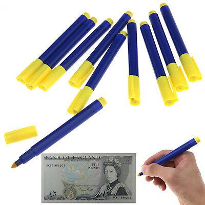 10 pcs Money Checker Counterfeit Detector Marker Fake Banknotes Tester Pen
