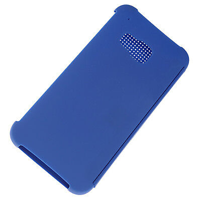 Point Array Dot View Retro Flip Smart Phone Blue Cover Case For HTC One M9 2015