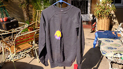 NWT Pannill USA Made Mens XL Vintage 80s Gray Cotton Blend Crew Sweatshirt