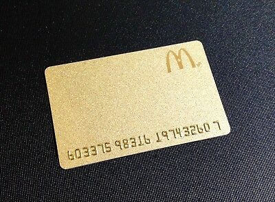 Canada Mcdonalds Gold Gift Card / Arch Card ----- New - Rare