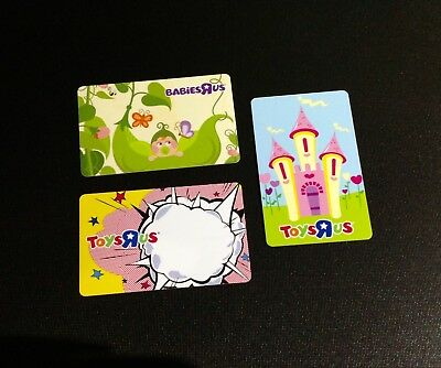 Toys R Us  Gift Card /arch Card -- Lot Of 3 Pcs. --- For Collectible