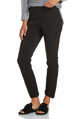 NEW Sportscraft Womens Felicity Pull On Style Pant - Black Work Casual Pants