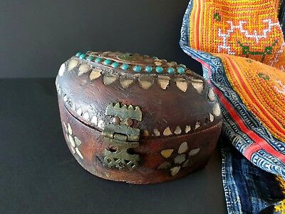 Old Tibetan Carved and Inlaid Box …beautiful solid wood collection piece
