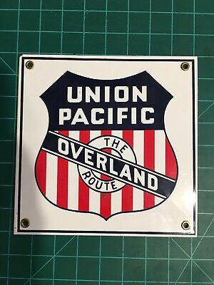Union Pacific Overland Route Metal Sign