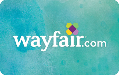 $250 Wayfair Physical Gift Card—USPS Mail Delivery
