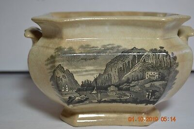 Antique W R Undercliff Cold Spring Ironstone Two Handle  Tureen    No Lid