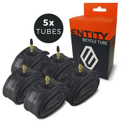 5x Entity Inner Tube 27.5x1.5-2.5 Presta Valve 27.5 inch 650b Mountain Bike MTB