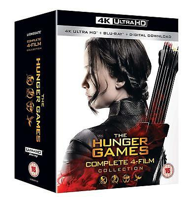 The Hunger Games Complete 4 Film Collection 4K Ultra + Blu-ray New Region B