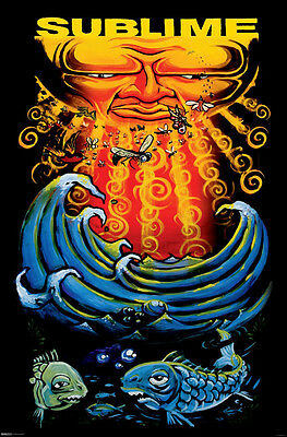 Sublime Sun & Fish 24x36 poster Brand New What it's Like Pawn Shop Santeria Riot